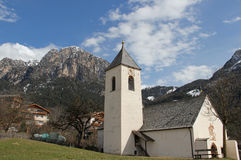The Schlern, St. Martin Church in Ums, Fie, South Tyrol, Italy Royalty Free Stock Images