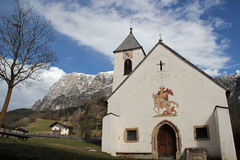 The Schlern, St. Martin Church in Ums, Fie, South Tyrol, Italy Stock Images