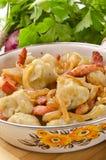 Schlesische Kartoffelmehlklöße Lizenzfreies Stockfoto