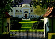 Schleswig Holstein Estate. Blumendorf Palace, owned by Baron von Jenisch, located between Hamburg and Luebeck, is one of the most beautiful estates in Schleswig Royalty Free Stock Photo
