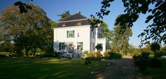Schleswig Holstein Mansion. A typical mansion on a Schleswig-Holstein farm estate stock photo