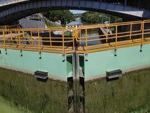 Schleusentor auf dem Erie-Kanal lizenzfreie stockfotografie