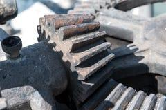 Schleusentor-mechanischer Gang und großes Zahnrad Lizenzfreies Stockfoto