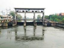 Schleusentor in Thailand stockfoto