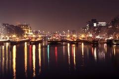 Schleusentoren im Amstel in den Amsterdam-Niederlanden Stockbilder