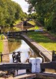 Schleusentreppe-, Worcester- und Birmingham-Kanal, England lizenzfreies stockbild