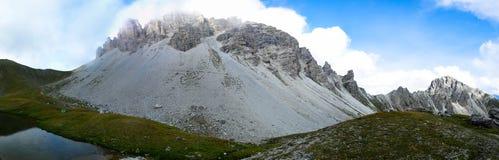 Schlicker Seespitze nelle alpi di Stubai Fotografia Stock