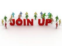 Schließen sich neue Partner- oder Mitgliedsmiete der Personenhandreichung sozialer Gruppe an Lizenzfreie Stockfotografie