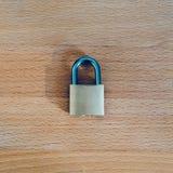 Schließen Sie als Symbol für Privatleben-und allgemeine Daten-Schutz-Regelung zu Lizenzfreies Stockfoto