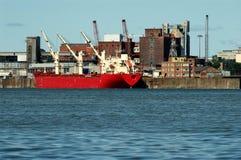 Schließen Sie Einbau in Montreal 4 an den Port an Stockfotografie