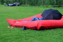Schließen Sie Entspannung in Gorky-Park ab Lizenzfreie Stockbilder