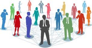 Schließen Sie Geschäftsleute Network Connections an Stockfotos
