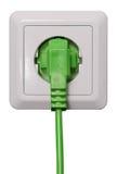 Schließen Sie grüne Energie an lizenzfreie stockfotografie
