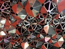 Schließen Sie herauf abstrakten Bienenbienenstock, Hexagonhintergrund Stockbild