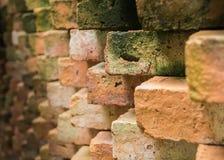 Schließen Sie herauf alte Backsteinmauer Stockbild