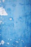 Schließen Sie herauf alte blaue Betonmauer Lizenzfreie Stockfotografie