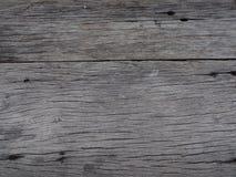 Schließen Sie herauf alte braune hölzerne Plankenbeschaffenheit Lizenzfreie Stockbilder