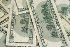 Schließen Sie herauf Amerikaner hundert Dollarscheine Lizenzfreie Stockfotos
