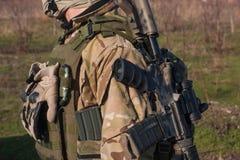 Schließen Sie herauf amunition von NATO-Soldaten Lizenzfreies Stockfoto