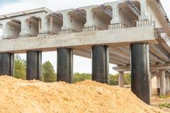 Schließen Sie herauf Ansicht über Brücke im Bau Lizenzfreie Stockfotografie