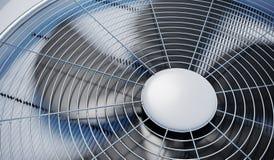 Schließen Sie herauf Ansicht über die HVAC-Einheitsheizung, -belüftung und -klimaanlage 3D übertrug Abbildung lizenzfreie abbildung