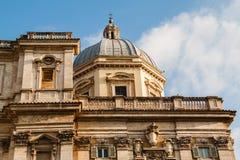 Schließen Sie herauf Ansicht der Basilikadi Santa Maria Maggiore, Rom Stockbild