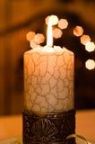 Schließen Sie herauf Ansicht der Kerze. Lizenzfreie Stockbilder