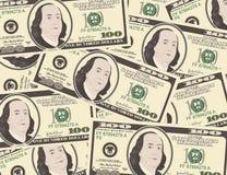 Schließen Sie herauf Ansicht des Amerikaners hundert Dollarscheine Stockbild
