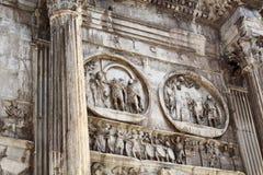 Schließen Sie herauf Ansicht des Bogens von Constantine Stockfoto