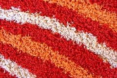 Schließen Sie herauf Ansicht des Details des shaggy Teppichs Stockbilder