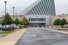 Schließen Sie herauf Ansicht des Nationalmuseums Marine Corpss stockbild