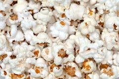 Schließen Sie herauf Ansicht des weißen Popcorns lizenzfreies stockfoto