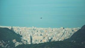 Schließen Sie herauf Ansicht von der Spitze von Rio de Janeiro lizenzfreie stockbilder