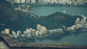 Schließen Sie herauf Ansicht von der Spitze von Rio de Janeiro lizenzfreie stockfotografie