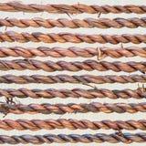 Schließen Sie herauf Ausdehnung des geflochtenen Wasserhyazinthen-Seilhintergrundesprits Stockfotos