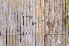 Schließen Sie herauf Bambuszaunhintergrund Lizenzfreie Stockfotografie