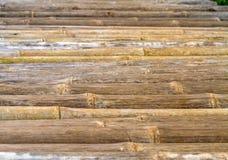 Schließen Sie herauf Bambuszaunhintergrund, selektiver Fokus Stockbilder