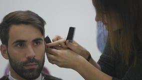 Schließen Sie herauf Barber Haircut Clipper lizenzfreie stockbilder