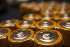 Schließen Sie herauf Batterien für elektronische Geräte lizenzfreie stockbilder