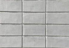 Schließen Sie herauf Beschaffenheit der weißen Backsteinmauer für Hintergrund stockbilder