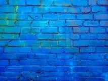 Schließen Sie herauf Bild der gemalten Backsteinmaueroberfläche lizenzfreie stockfotos