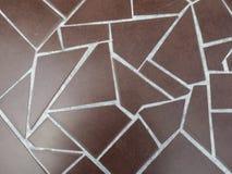 Schließen Sie herauf Bild der Pflasterung von braunen Ziegelsteinen Lizenzfreies Stockfoto