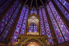 Altar in Sainte-Chapelle, Paris, Frankreich Stockbilder