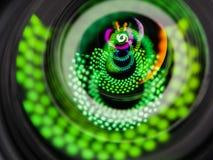 Schließen Sie herauf Bild einer Linse des Telefotos DSLR Lizenzfreie Stockfotografie
