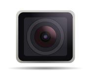 Schließen Sie herauf Bild eines Kameraobjektivs Lizenzfreies Stockbild