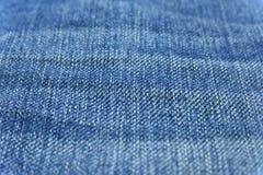 Schließen Sie herauf blaue Baumwollstoffbeschaffenheit lizenzfreie stockfotos