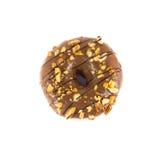 Schließen Sie herauf braunen Donut Lizenzfreie Stockfotografie