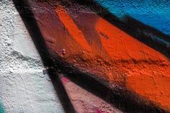 Schließen Sie herauf bunte Graffiti Stockfoto