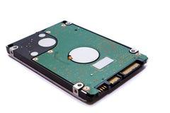 Schließen Sie herauf das Festplattenlaufwerk für Computerdatenspeicherungsstorage technology HDD lokalisiert mit weißem Hintergru lizenzfreie stockfotos