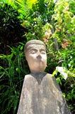 Schließen Sie herauf den Kopf von einem Buddha Stockfotografie